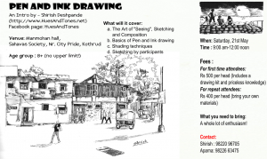 Pen and Ink workshop -21 May 16