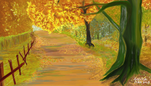 autumn path - small