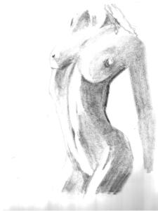 Nude 4 - pencil drawing